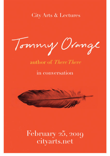 City Arts & Lectures Tommy Orange author of There, There in conversation. February 25, 2019. cityarts.net