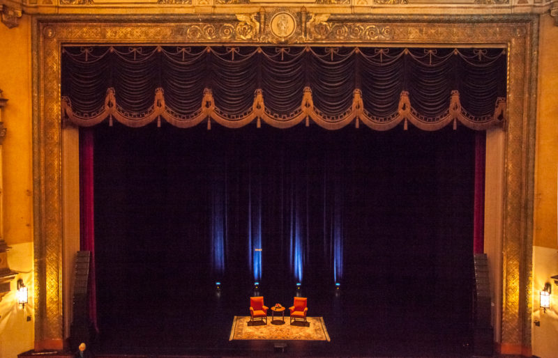 View of stage and proscenium