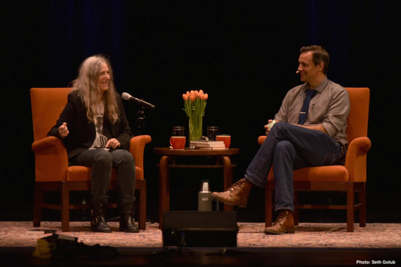 Patti Smith in conversation with Dan Stone in Oct 2016